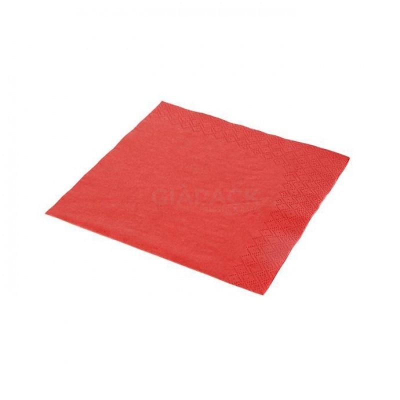 Red napkins 33x33 double ply Mebate cf 40 pcs