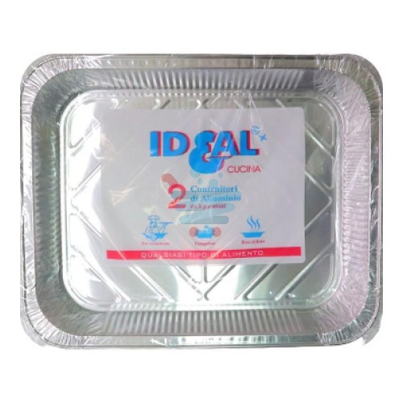 Contenitore alluminio Ideal 8 porzioni senza coperchio 2 pz