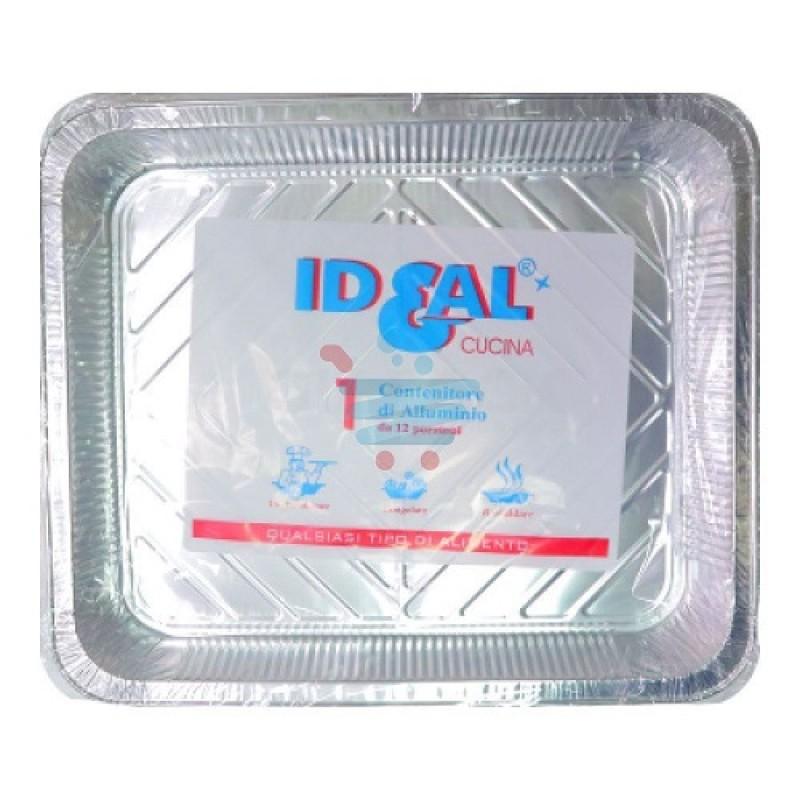 Contenitore alluminio Ideal 12 porzioni senza coperchio 1 pz