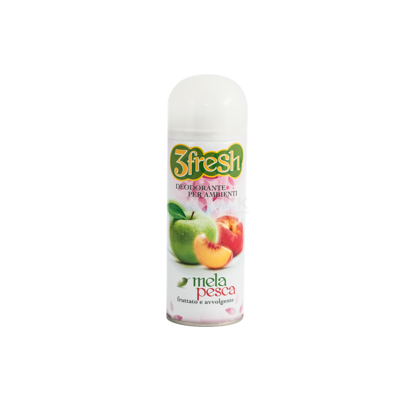 Deodorante aerosol per ambienti 3Fresh Mela Pesca 400 ml