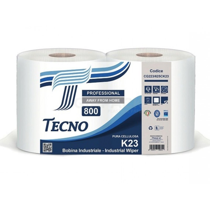 Paper roll Tecno k23 pure cellulose pack 2 rolls