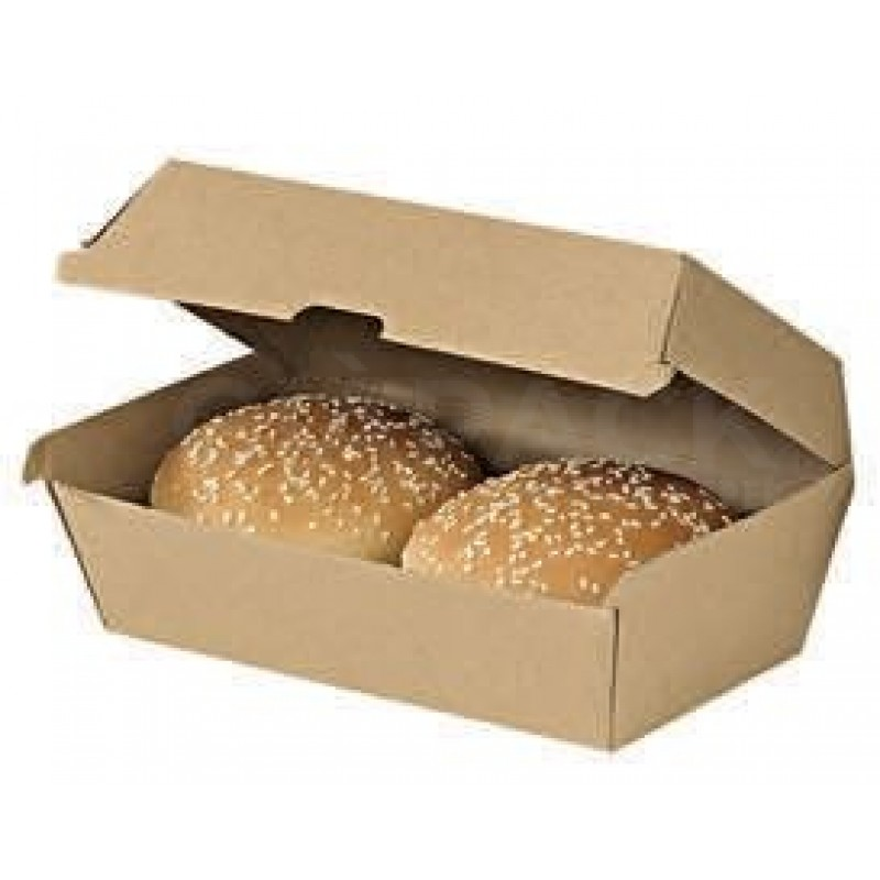 Double Hamburger box 17.5x9.2x8.4 cm Kraft  25 pcs/pack