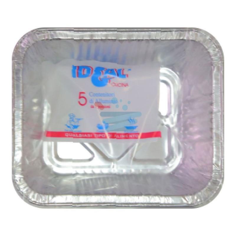 Contenitore alluminio Ideal 1 porzione senza coperchio 5 pz