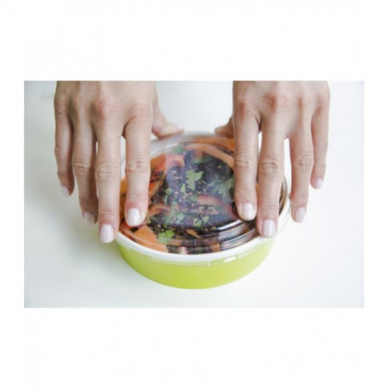Recyclable Transparent Plastic Lid Fits all Size Buckaty Ø155 45 pcs