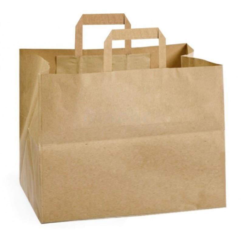 Take away bag size 32 + 22 x32 color Havana flat handle
