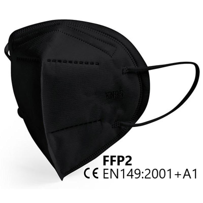 Respirator face mask ffp2 color black NR 1pc/bag