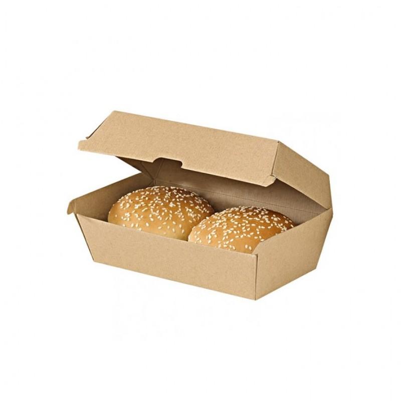 Maxi Hamburger box 220X125x 82 mm pack 50 pcs