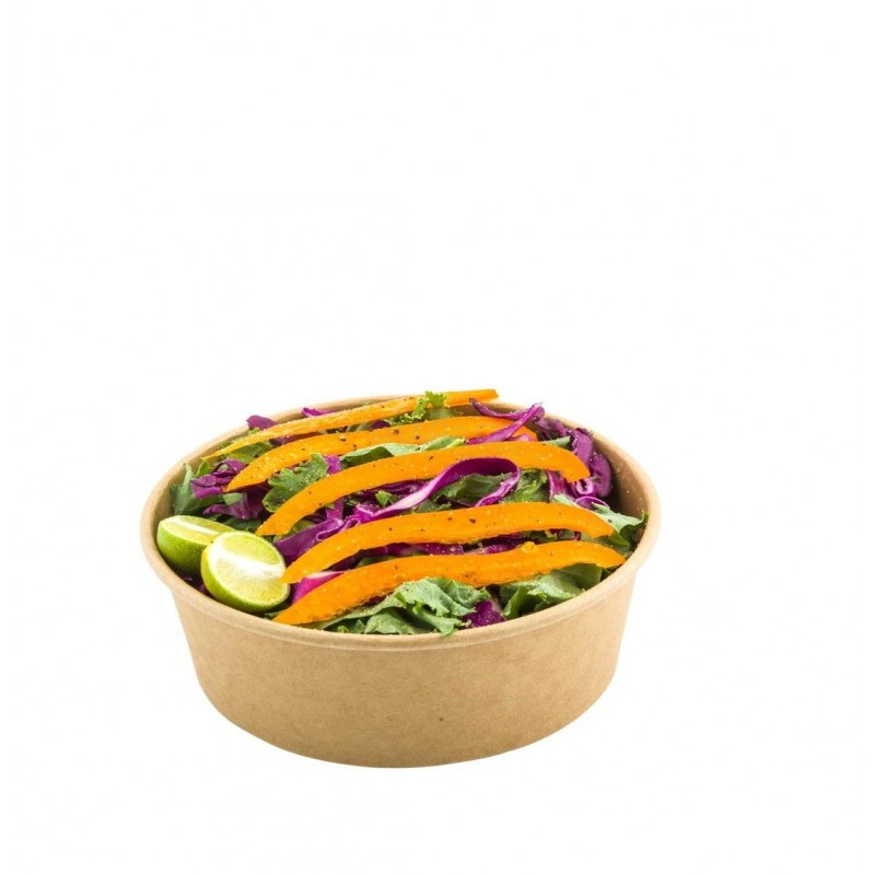 Round Salad bowl in kraft cardboard 750 ml Ø150 h 60 50pcs