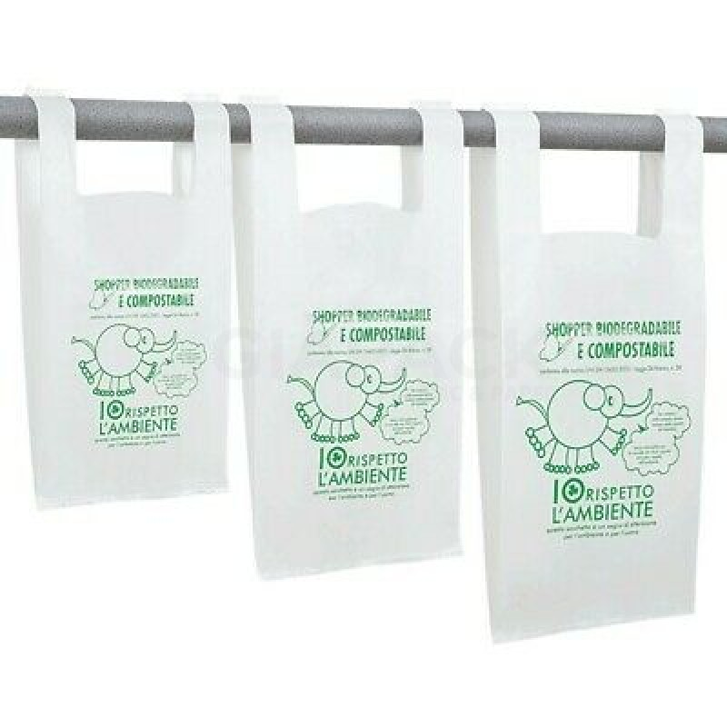 Compostable Shopper Bags in various neutral or customized formats