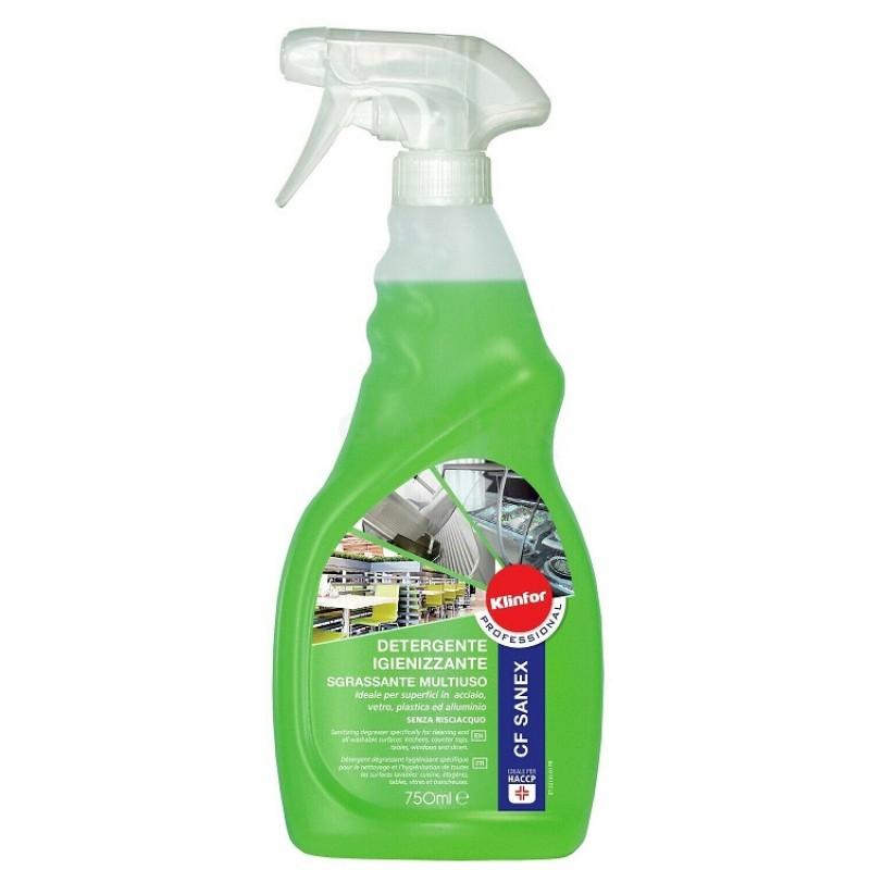 Klinfor Cf Sanex sanitizing degreasing detergent multipurpose 750 ml