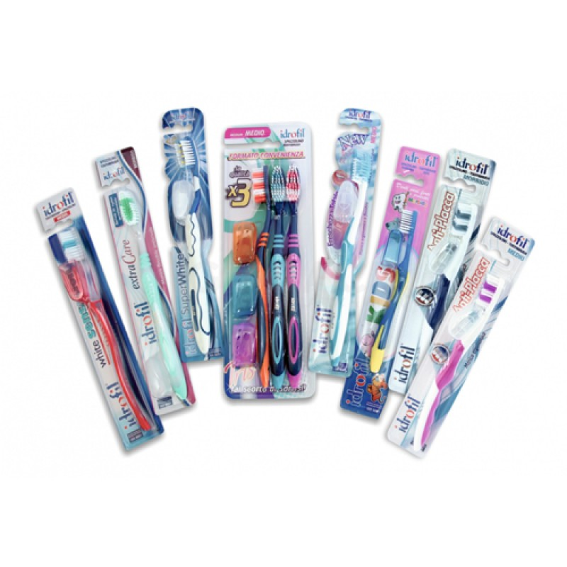 Idrofil Anti-Plaque Toothbrush 12pcs