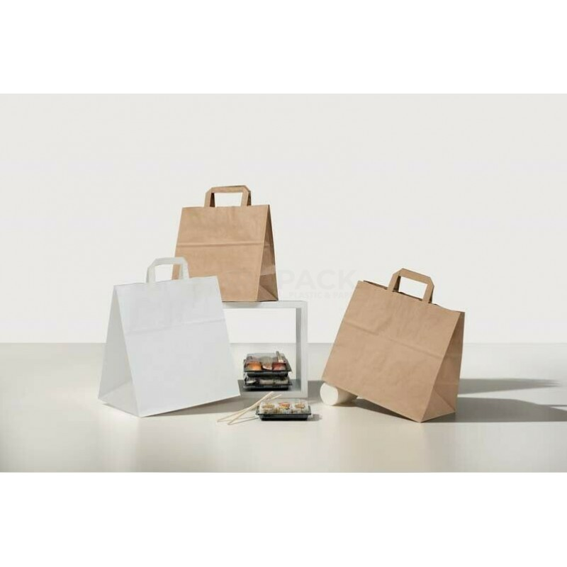Take away bag size  27 cm 17x29 color Havana flat handle pieces 250